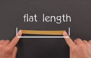 Measure the flat length